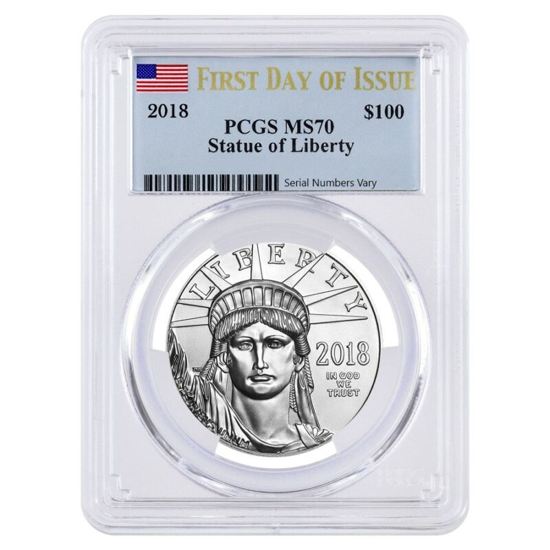 2018 1 oz Platinum American Eagle PCGS MS 70 First Day of Issue