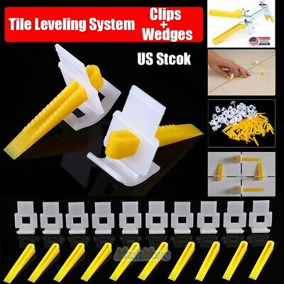 400-1200 Reusable Flat Tile Leveling System Clips Wedges Wall Floor Spacers
