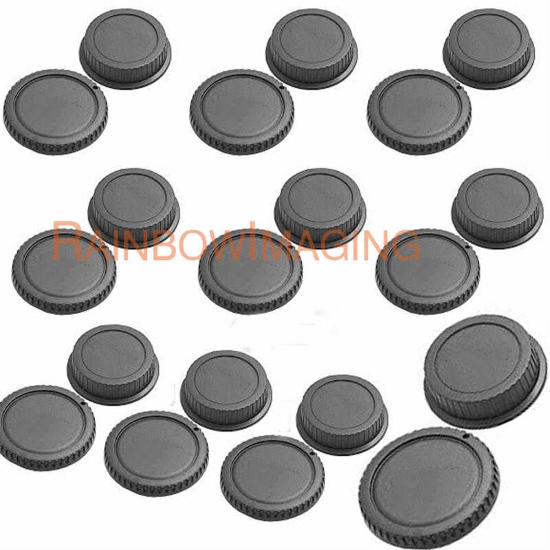 "10 pcs Rear Lens Cover + Camera Body Cap for Canon DSLR SLR Lenses ""US Shipping"""