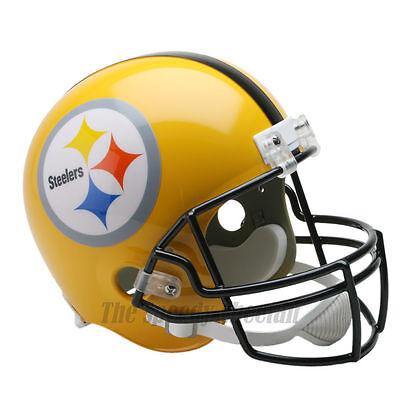 (PITTSBURGH STEELERS 75TH THROWBACK NFL FULL SIZE REPLICA FOOTBALL HELMET)