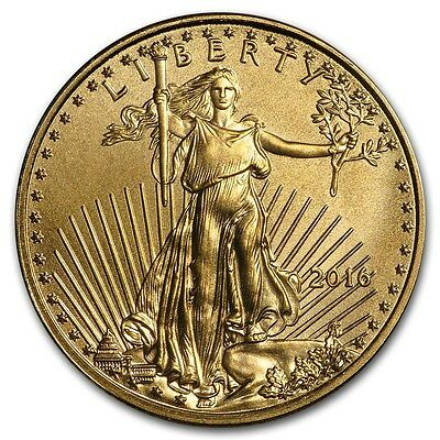 2016 1/10 oz Gold American Eagle Coin Brilliant Uncirculated - SKU #117722