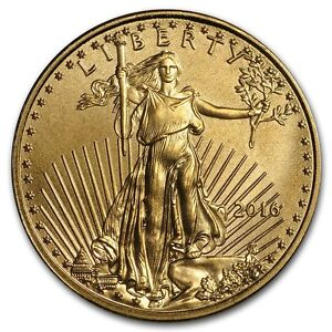 2016 1/10 oz Gold American Eagle BU - SKU #117722