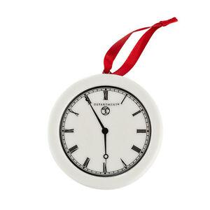 Dept-56-Logo-Hang-Tag-Clock-Promo-Ornament-Promotional-NEW-Ceramic-Disc-Flat