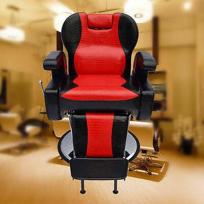 Barber Chair Salon Hydraulic Reclining Hairdressing Threading Shaving Heavy Base