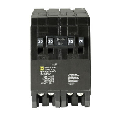 Square D Homeline Csed 30-amp 2-pole 120240 Quad Tandem Circuit Breaker New
