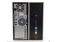 HP Compaq 8000 Elite Convertible Tower Intel Core2duo @2.9GHz 4GB