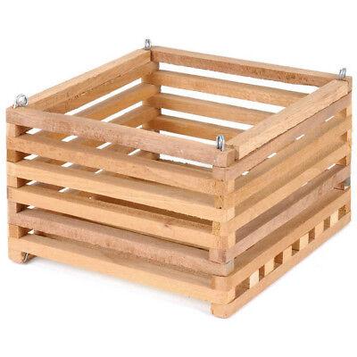 BETTER GRO 8-in x 5-in Natural Wood Hanging Basket Indoor Outdoor Excellent