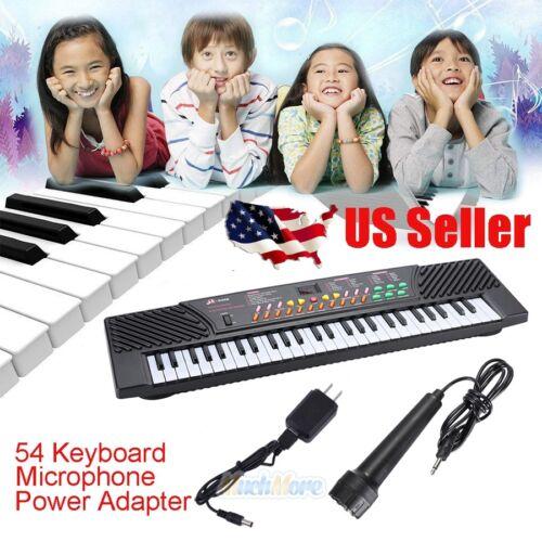 Full Size 54 Key Music Digital Electronic Piano Keyboard wit