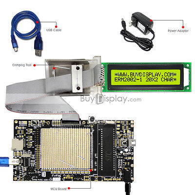 8051 Microcontroller Development Board Usb Programmer For 5v 20x2 Character Lcd