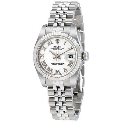 Rolex Lady Datejust 26 White Dial Stainless Steel Rolex Jubilee Automatic Watch