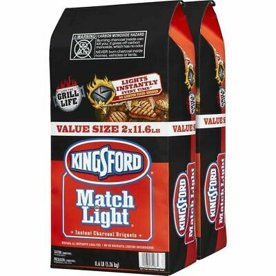 Kingsford 31267 Match Light Charcoal Briquettes, Two 11.6 Pounds - Lighting Charcoal Briquettes