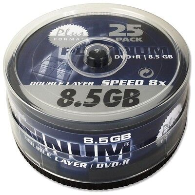 Platinum 8,5 GB DVD+R Double Layer DVD-Rohlinge (8x Speed) in 25er Spindel