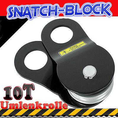 """Umlenkrolle-Seilrolle,abschmierbar Baumrolle """"Snatch-Block"""" 10t NEU"""
