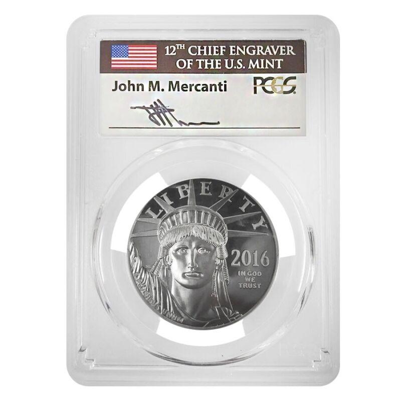 2016-W 1 oz Platinum American Eagle Proof Coin PCGS PF 70 FDOI (John Mercanti
