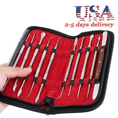 Dental Lab Equipment Wax Carving Tools Set Surgical Dentist Knife Instrument Kit