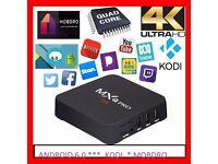 MXQ PRO 4K TV BOX-ANDROID 6.0 MEDIA CENTRE-NEW (KODI 17.3