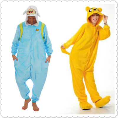 Adventure Time Jake Finn Onesiee Kigurumi Fancy Dress Costume Hoody Pyjama Gift (Finn Jake Costume)