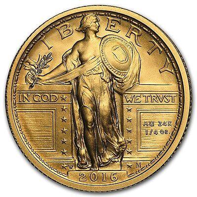 SPECIAL PRICE! 2016-W 1/4 oz Gold Standing Liberty Quarter Centennial (w/OGP)