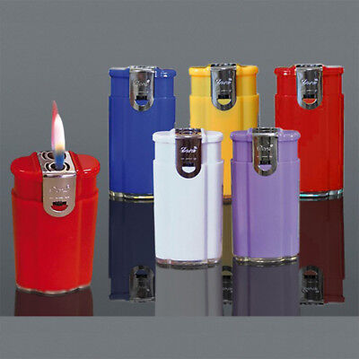 5x Windproof Turbo Jet Gas Lighter Refillable Cigarette Double Flame Lighters