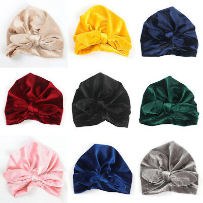 Baby Hat Autumn Winter Knotted Headband Kids Girls Caps Turban Hats Toddler