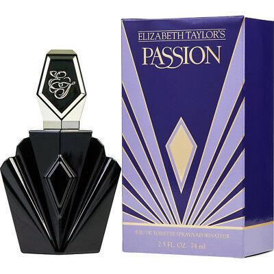 Passion By Elizabeth Taylor Women 2 5 Oz   74 Ml Edt Perfume Spray   New In Box