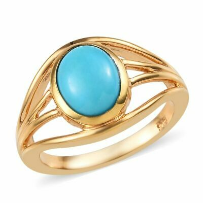 TJC Sterling Silver Solitaire Ring Sleeping Beauty Turquoise, Blue Ring