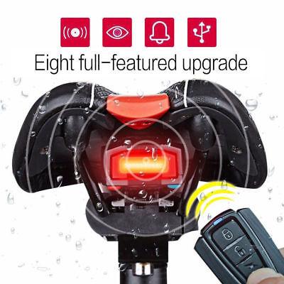 3 in 1 Fahrradalarmanlage Alarmschloss Fahrrad Lampe Rücklicht Leuchte Licht ()