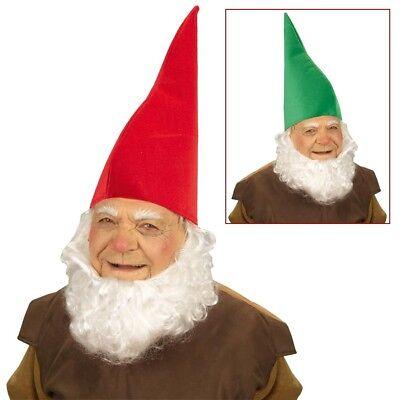 ZWERGEN MÜTZE # Weihnachten Märchen Kobold Gnom Hut Kostüm Party Rot Grün (Rote Gnom Hut)