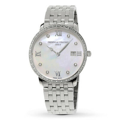 Frederique Constant Women's Quartz Diamond Accents 36mm Watch FC-220MPWD3SD6B