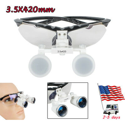Fda Dental Loupes Loupe Surgical Medical Binocular Magnifying Glass 3.5x 420mm
