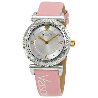Versace V-Motif Quartz Silver Dial Ladies Watch VERE00118