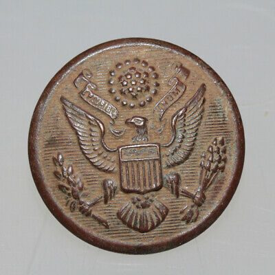 CIRCA 1800-1900 AD MILITARY UNIFORMS BRONZE BUTTON-WEARABLE