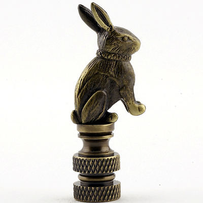 Lamp parts: ANTIQUE BRASS RABBIT LAMP SHADE FINIAL