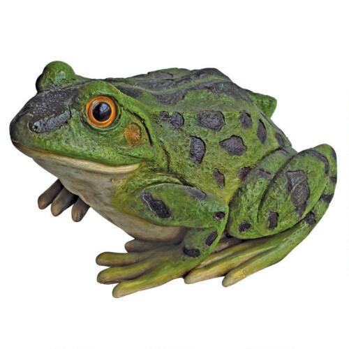 Jeremiah the Bullfrog Sculpture Garden Pond Frog Pool Patio Statue