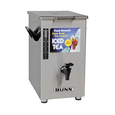 Bunn 03250.0003 Iced Tea Dispenser 4 Gallon Square Solid Lid Square Tea Dispenser