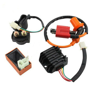 ENGINE IGNITION COIL CDI SPARK PLUG RELAY REGULATOR RECTIFIER FOR 125C