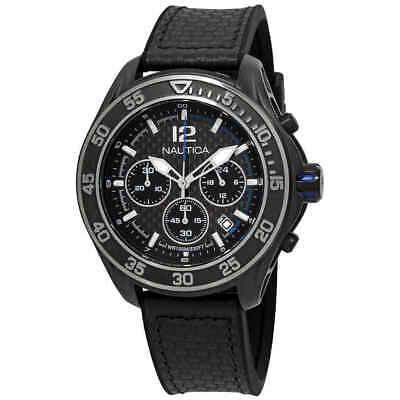 Nautica NXM 1600 Chronograph Black Dial Men's Watch NAD25505G