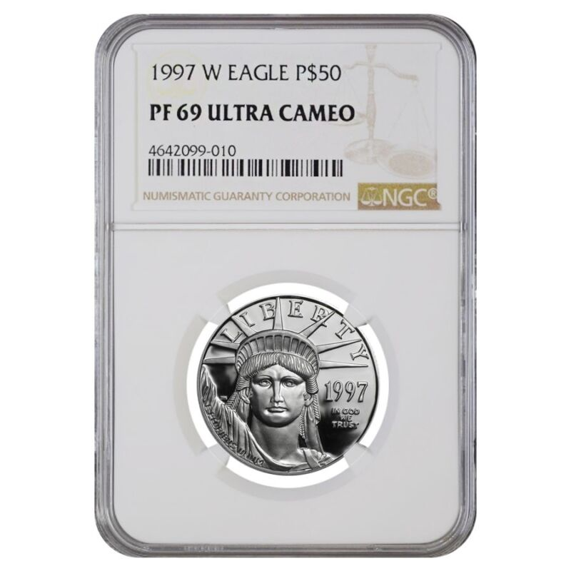 1997 W 1/2 oz $50 Platinum American Eagle Proof Coin NGC PF 69 UCAM