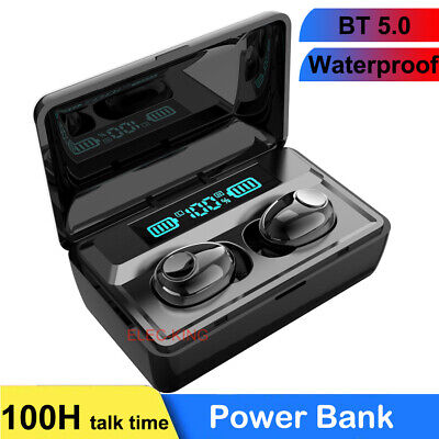 Bluetooth 5.0 Headset Wireless Earbuds Stereo Headphones Noise Cancelling Sport