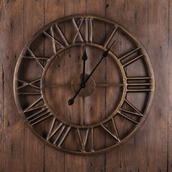 Large Metal Wall Clock Retro Roman Number Creative Iron Watch Big Wall Clocks