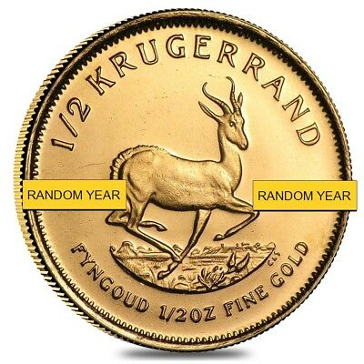 1/2 oz South African Krugerrand Gold Coin (Random Year)
