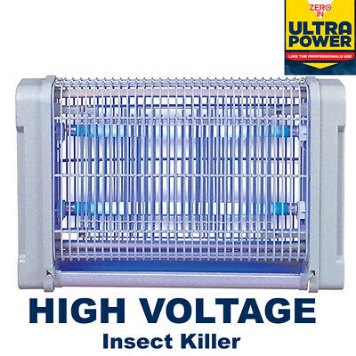 Zero In Ultra Power Mains High Voltage Flying Insect Killer Electric Bug Zapper