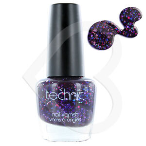 Technic-Glitter-Nail-Polish-Mad-Alice-Purple-with-Carnival-Rainbow-Multi-Colour