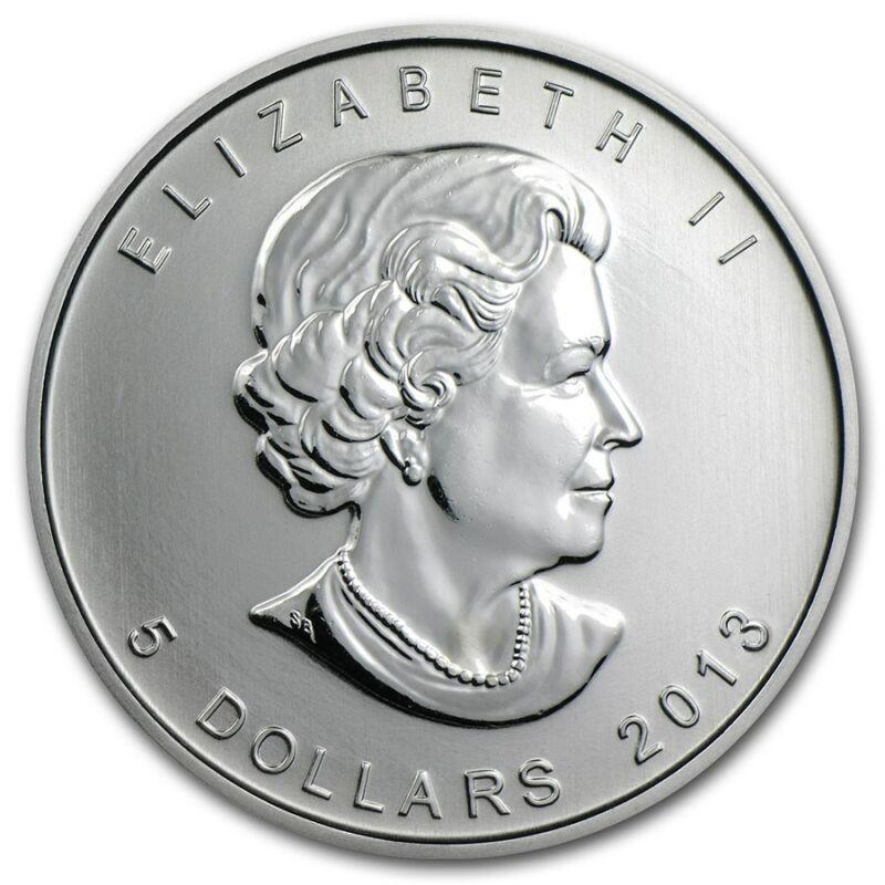 2013 Canada 1 oz Silver $5 Dollar Maple Leaf Coin BU
