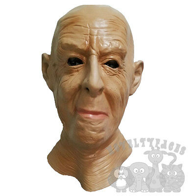 Halloween Horror Grumpy Old Man Grand Fiction Story Dress Up Latex Party Mask](Fiction Halloween Stories)