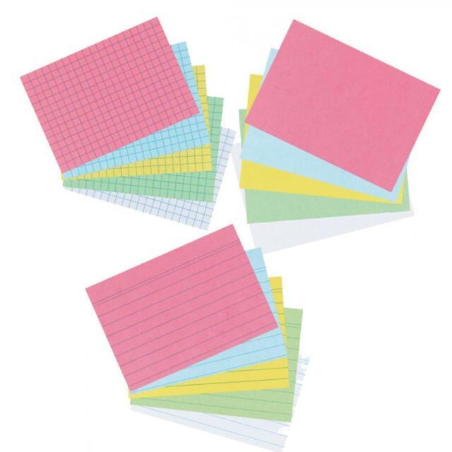 herlitz Karteikarten, DIN A8, A7, A6, A5, A4 blanko,liniert,kariert Farbauswahl