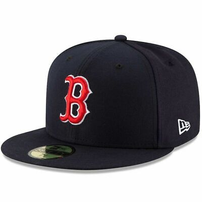 NEW ERA 59FIFTY CAP BOSTON RED SOX BLUE ON FIELD MLB AUTHENTIC FITTED GAME HAT Authentic Fitted Hat Game