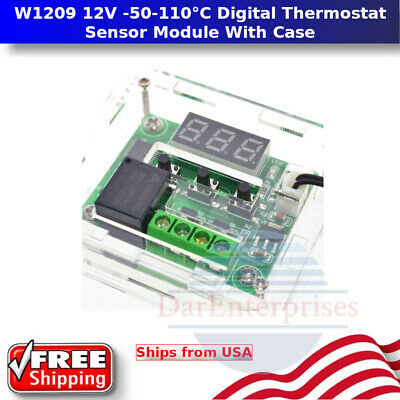 W1209 12v Digital Thermostat Temperature Control Switch Sensor Module With Case