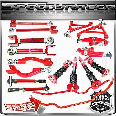 fits 95-98 240SX S14 Suspension Kit&Toe Traction Control Arm& Coilover &Sway Bar