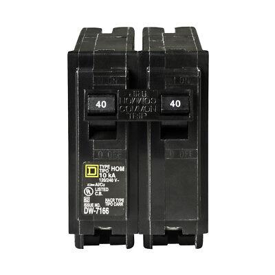 Square D Homeline 40-amp 2-pole Residential Standard Trip Circuit Breaker